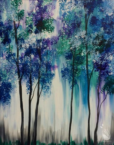 Abstract Trees In Blue - Teens & Adults