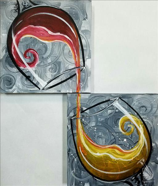 How to Paint **BFF/DATE NIGHT!** IN STUDIO: Swirly Wine