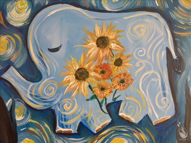 HAPPY Gogh Lucky Elephant