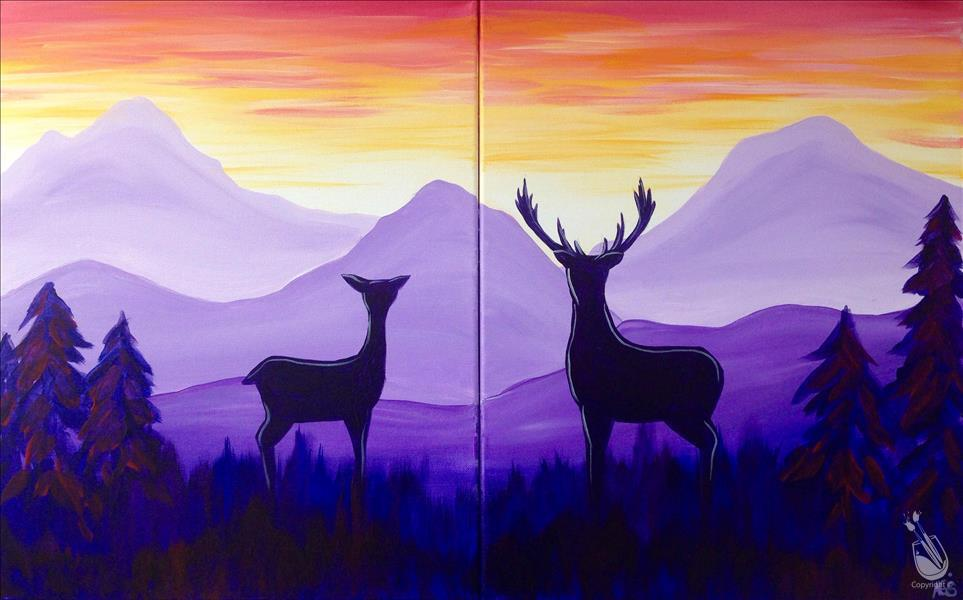 DATE NIGHT***Deer at Sunrise - Set -IN STUDIO
