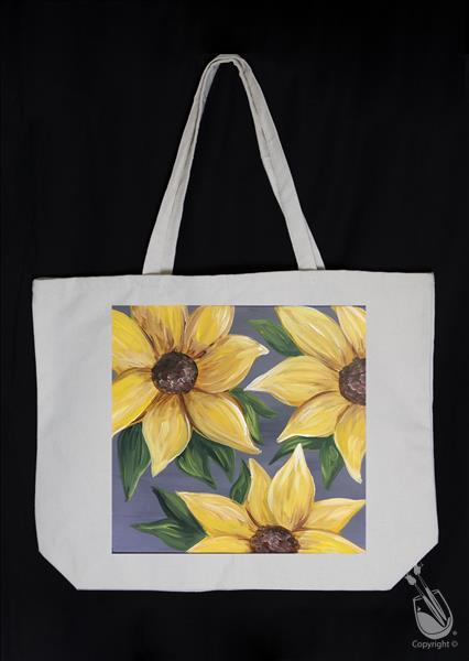 Sunflower on Gray Tote