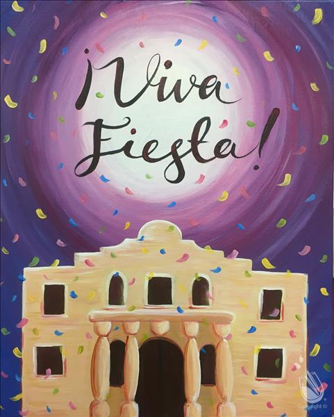 Viva fiesta can be painted with without words 4 14 for Painting with a twist alamo ranch