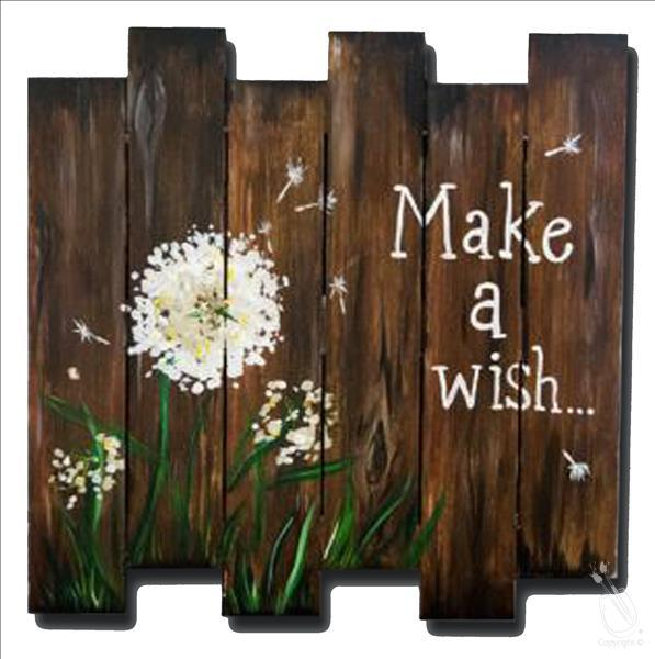 Thankful Thursday-Make a Wish Wood Pallet