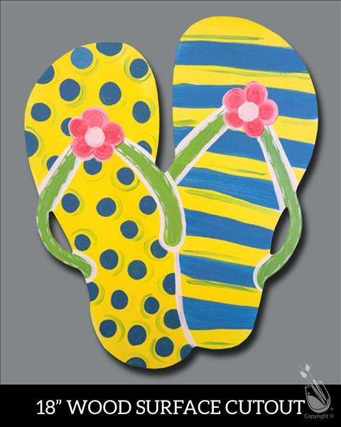 Design Your Sandals -- Paint on Real Wood Cut Out!