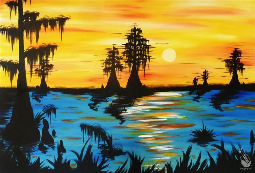 Magical Louisiana Sunset Big Canvas Friday March 29 2019