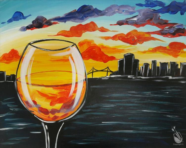 How to Paint Wine Down *PUBLIC* NEW ART!