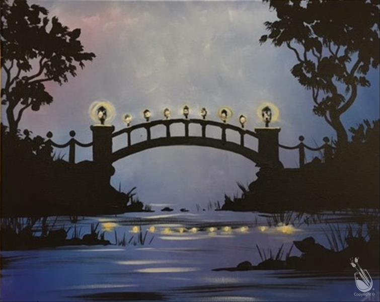 How to Paint Wicked Lighted Bridge-PERFECT midweek break! 18+