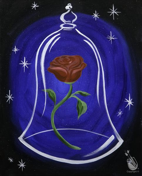 How to Paint FAMILY FUN Rose of Love (Ages 6+)