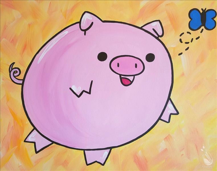 How to Paint Family Day! All Ages! Bouncy Piglet!