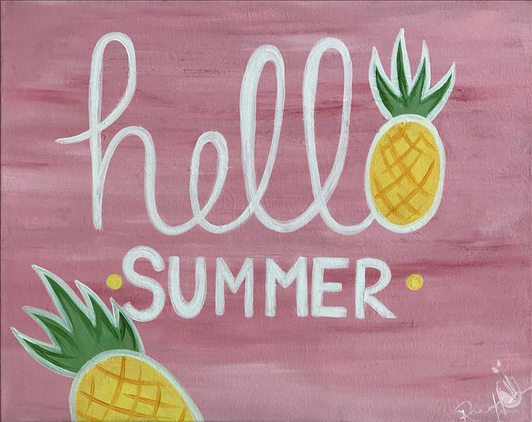 Happy Hour Painting-Hello Summer