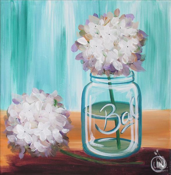 How to Paint Happy Hydrangeas Squared