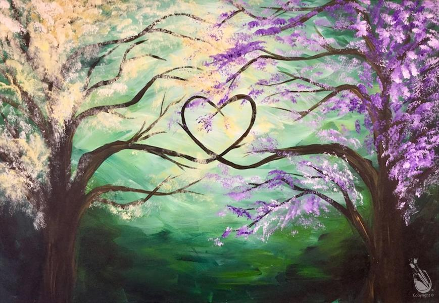 Tranquil Love Trees