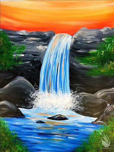 How to Paint Crisp Waterfall