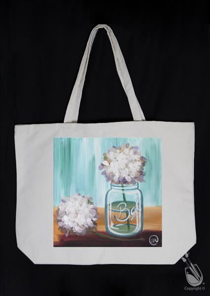 Happy Hydrangeas Squared Tote Bag