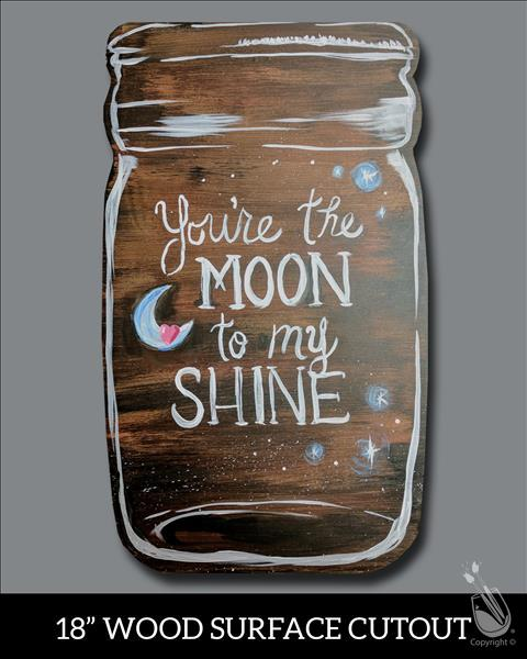 Moonshine Jar Cutout