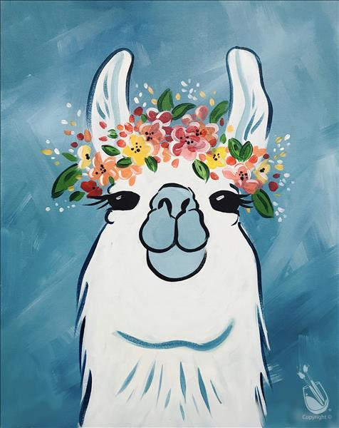 Flower Crown Llama or Sloth