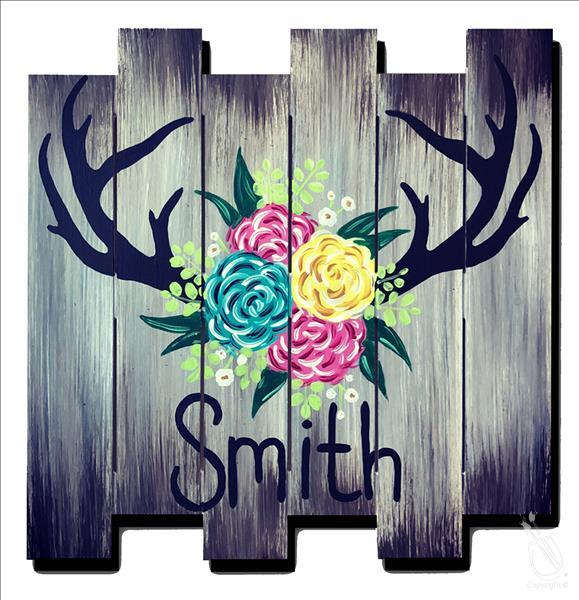 Rustic Antler Sign ADULTS ONLY