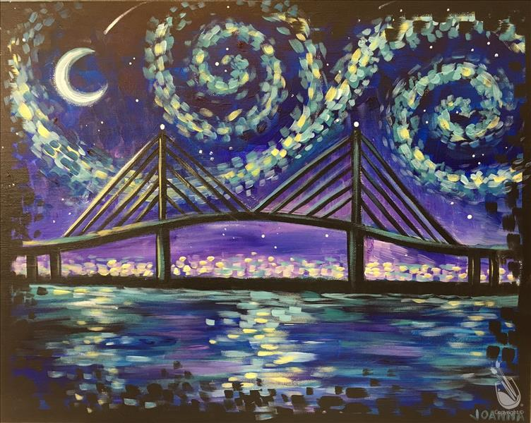 How to Paint *Local Art!* Starry Night in Savannah
