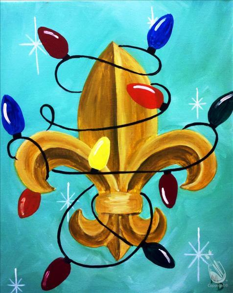 How to Paint Christmas Light Fleur de Lis