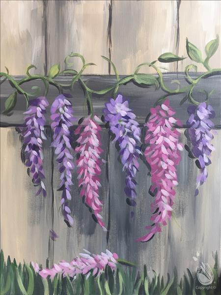 Lavendar and Pink Wisteria