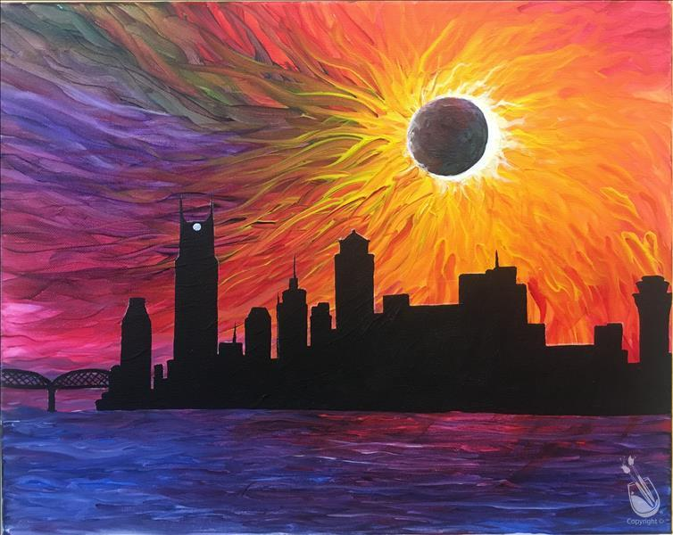 Colorful City Eclipse