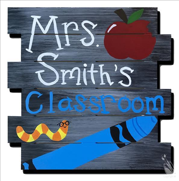 Teacher's Open Studio! Shiplap Pallet! Personalize