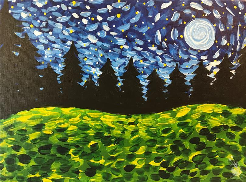 How to Paint Van Gogh Field (Ages 10+)