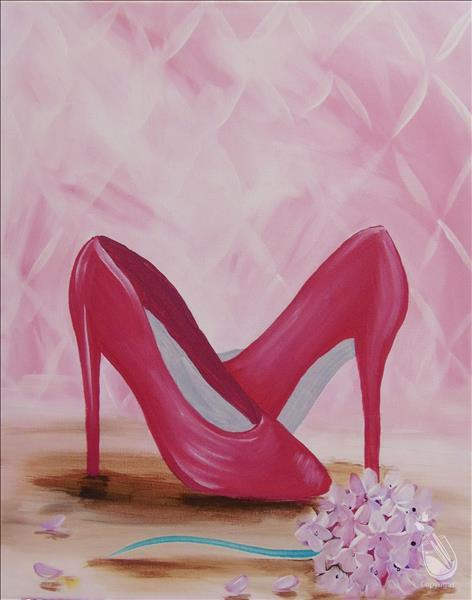 How to Paint Heels and Hydrangeas