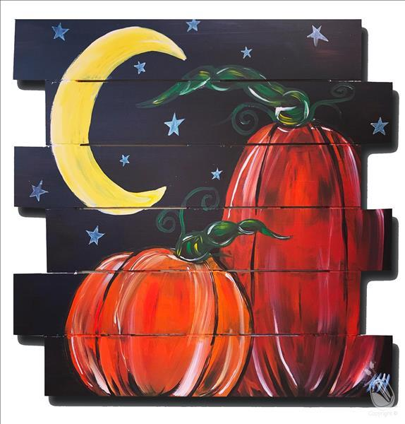 Fall Pumpkin Patch At Night Pallet-In Studio Class