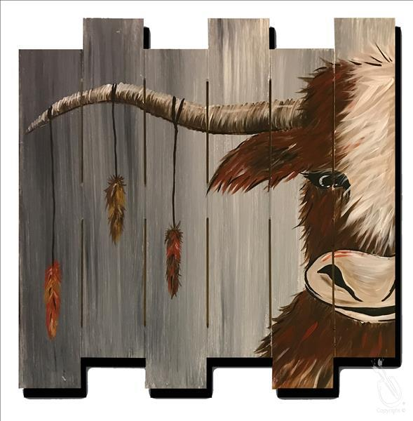 How to Paint Rustic Highland Cow! $1 off Angry Orchard!
