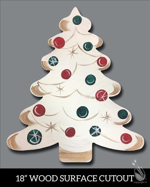Vintage Christmas Tree Cutout