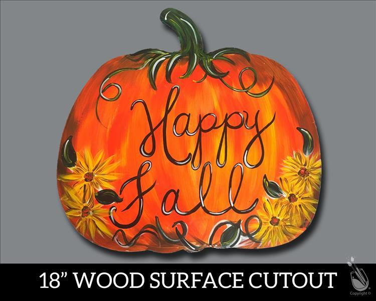 Happy Fall Pumpkin Cutout