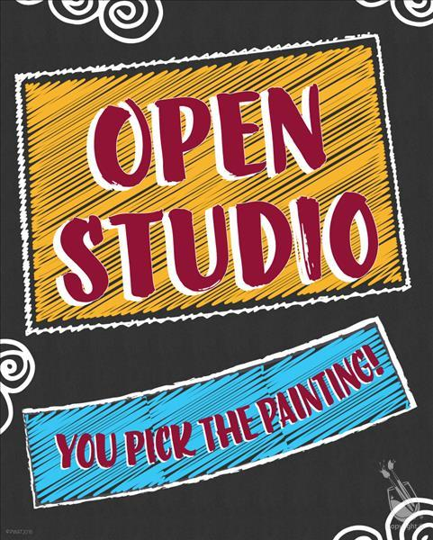 How to Paint Open Studio-Choose Your Design and Surface!