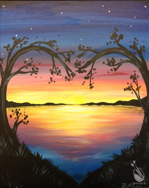 How to Paint Lovely Lake Sunset