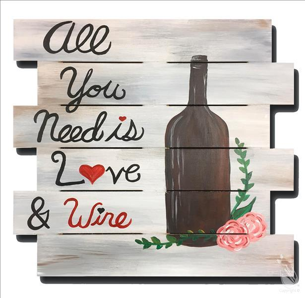Wine Down Wednesday-Rustic Wine and Love Pallet