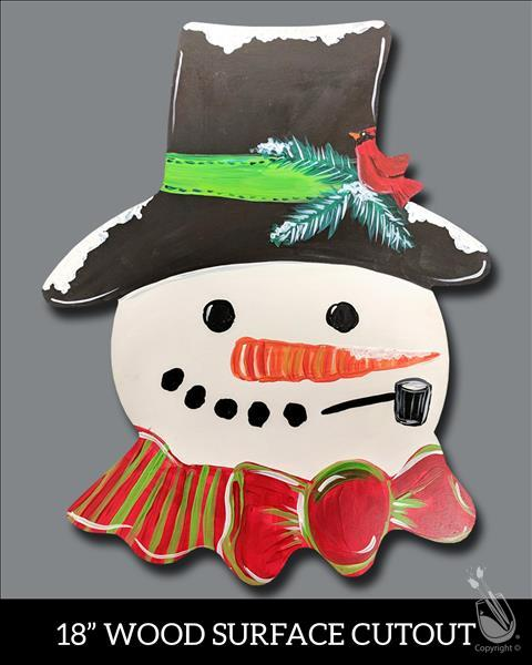 Snowkissed Snowman Cutout