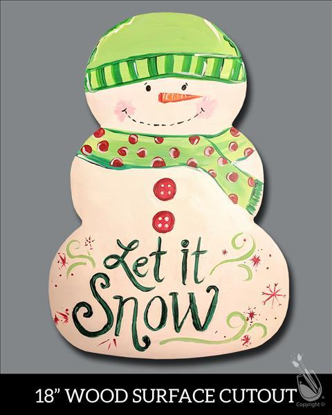 Let it Snowman! Cutout