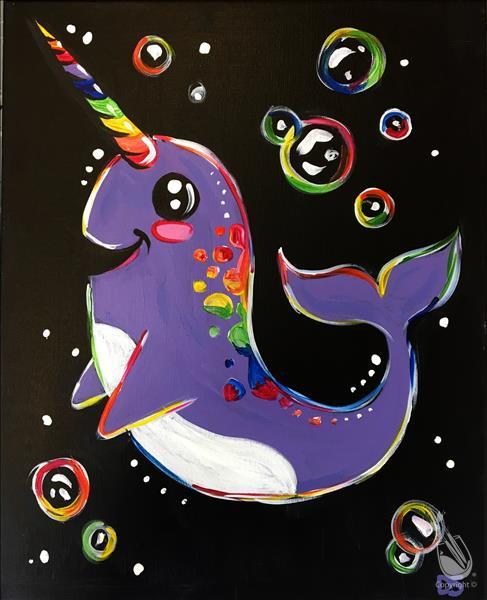 Gnarly the Narwhal - Blacklight In Studio Class!