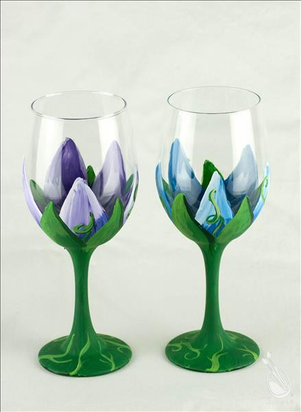 Meaningful Monday-Wine Glass Painting Party