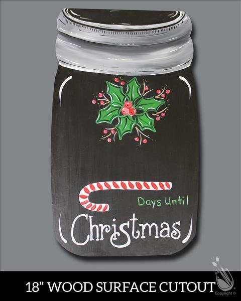 How to Paint (Xmas in July) Xmas Countdown Cutout $30 Special