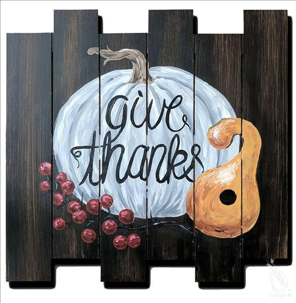 Give Thanks - Personalize! Pallet or Pine Board!