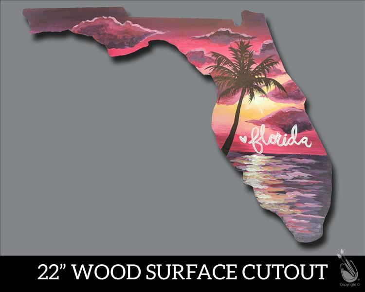 How to Paint Florida State Wooden Cutout!