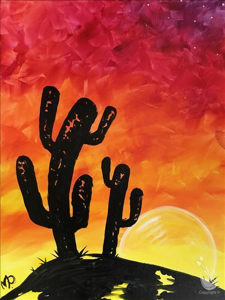 Kids Class Sunset Cactus Wednesday March 13 2019 Painting