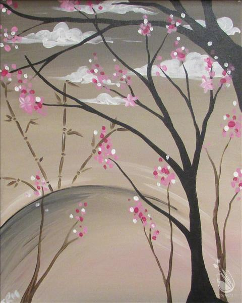 How to Paint Bamboo and Blossoms- (All Ages)