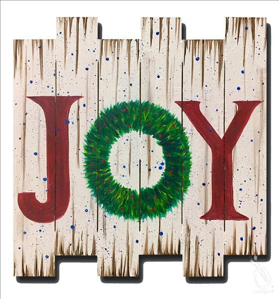 How to Paint *PALLET* Joy Wreath