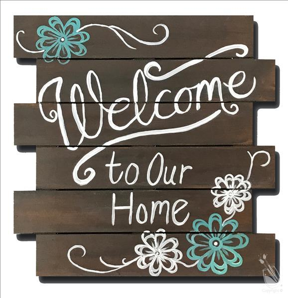 Welcome Sign - On REAL WOODEN SHIPLAP!