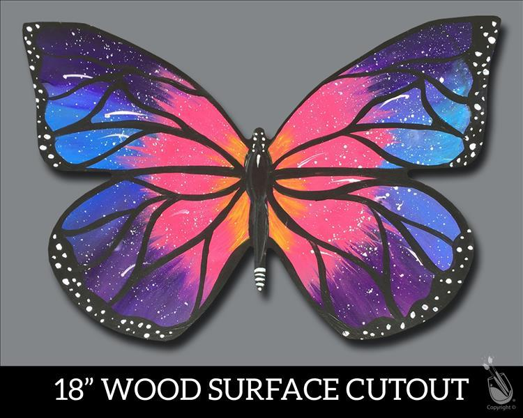 How to Paint $5.00 Off  Wooden - Galaxy Butterfly