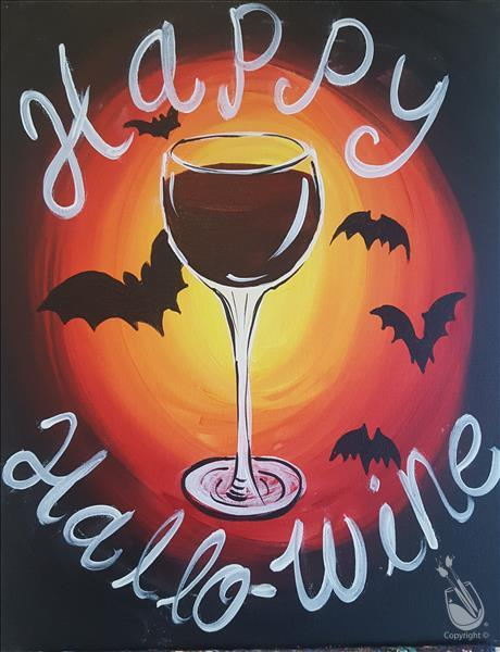 How to Paint Happy Hallo-Wine