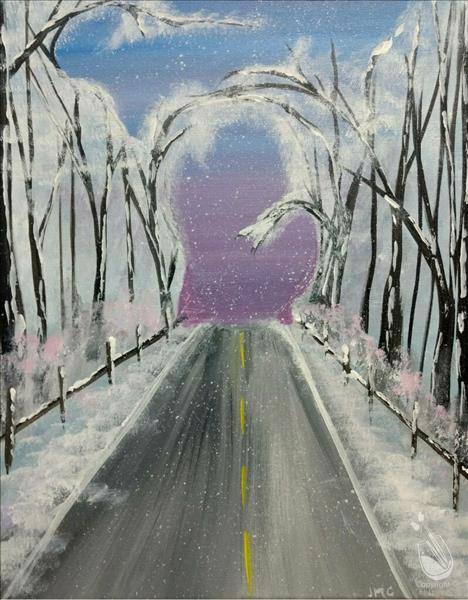 How to Paint Michigan Winter Roadtrip