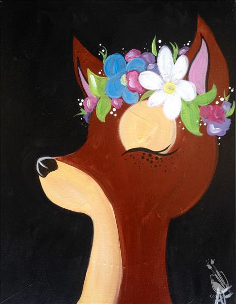 Flower Crown-Deer Kids Club-In Studio Class!!!